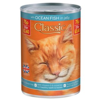 Butcher's Classic Ocean Fish Chunks in Jelly Cat Food Tin 400g (Case of 12)