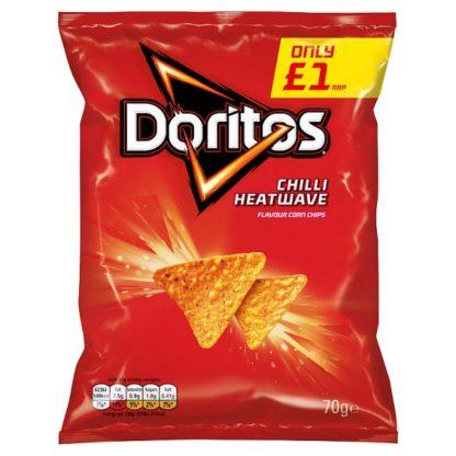 Doritos Chilli Heatwave Tortilla Chips £1 PMP 70g (Case of 15)