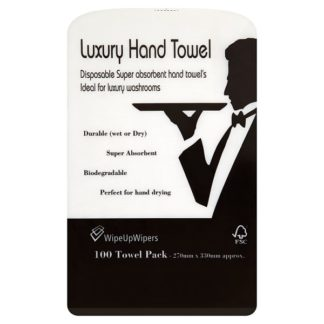 Wipe Up Wipers Luxury Hand Towel 100 Towel Pack (Case of 6)