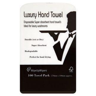 Wipe Up Wipers Luxury Hand Towel 100 Towel Pack