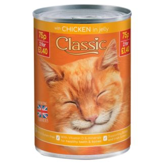 Butcher's Classic Chicken Chunks in Jelly Cat Food Tins 400g (Case of 12)