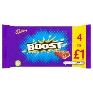 Cadbury Boost Chocolate Bar 4 Pack £1 136g (Case of 9)