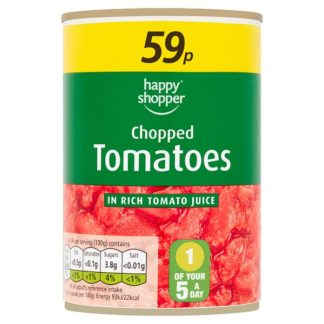 Happy Shopper Chopped Tomatoes in Rich Tomato Juice 400g (Case of 12)