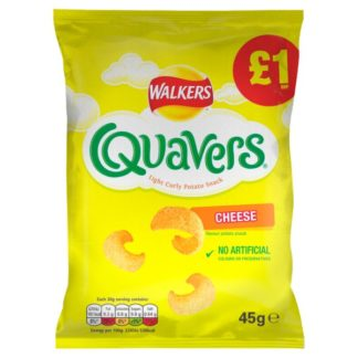 Walkers Quavers Cheese Snacks £1 PMP 45g (Case of 15)
