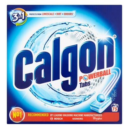 Calgon 3in1 Water Softener Powerball Tablets 75 (Case of 4)